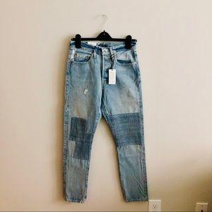 Levi's Jeans - 🆕 levi's | selvedge patchwork distressed jeans